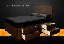 King Storage Bed Frame with drawers / King Platform Bed / Hand Crafted