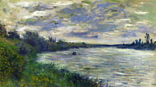 Huge Oil painting Claude Monet - The Seine near Vetheuil, Stormy Weather river