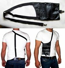 Brust Safe Leder Umhängetasche Gummizug Geldbörse Sicherheit Safty Security