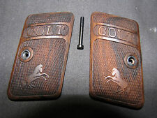 Colt 1908 .25 Hammerless English Walnut Checkered Pistol Grips w/RAMPANT COLT!