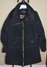 Jones New York Down Puffer Coat Pillow Collar Black Sz. XL NWT WOW! $325