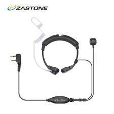 Zastone Throat Microphone Vibration Earphone Acoustic Air Tube 2 Pin PPT For 5R