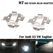 2x HID Xenon Bulb H7 Holder Adapter Clips Base For Audi A3 VW Sagitar