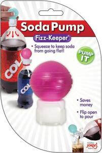 Jokari 25100 Fizz Keeper - Squeeze Soda Pump Retain Carbonation Easy Fit & Pour