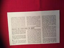 m12p ephemera 1969 film review dracula has risen from the grave christopher lee