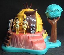 Polly Pocket Mini 💚 1995-Disney Pocahontas Powhatan Home-BLUEBIRD