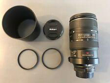 Nikon AF Nikkor 80-400mm f/4.5-5.6D ED VR lens with filters