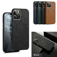 For iPhone 12 11 Pro XS Max XR 7 8 Plus SE2 Shockproof Leather Back Cover Case