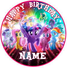 My Little Pony PERSONALISED Edible Cake Topper Image Birthday Decoration Party