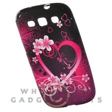 Samsung Galaxy S 3 Candy Skin Soft Purple Love Case Cover Shield Shell