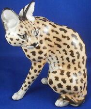 Rare Nymphenburg Porcelain Serval Cat Figure Figurine Porzellan Figur Buschkatze