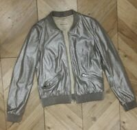 River Island Womens Silver Sparkling Jacket Size 10 Immaculate Condition