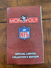 1998 NFL Monopoly Limited Collectors Edition Monopoly Replacement Game Direction