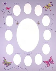 """375 Photo Mats for Baby's First Year   Birth to 12 Mos 11""""x14"""" Butterfly Garden"""