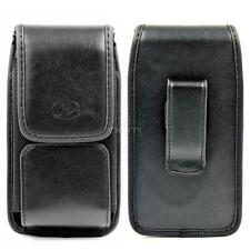 Black Leather Pouch Holster Case w Belt Clip for iPhone 4 / 5 / 5s / SE / 6 / 6s