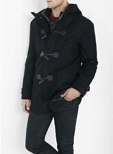 New Express Black Hooded Toggle Coat Size Large $278 Stylish
