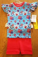 New Jammies organic short set patriotic pajama set, 5,NWT