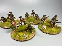 28mm, Painted, AWI, Queens Rangers Skirmishers, Perry Miniatures, Black Powder