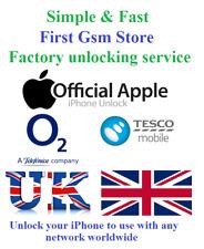 Factory unlocking O2 Tesco Unlock iPhone 11 XR XS X 8 8 Plus 7 6s 6 SE 5s 5c 5 +
