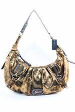 Guess Women's Eye Catching Bronze Vinyl Handbag