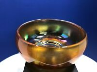 Vintage Iridescent Marigold Carnival Glass Chili Bowl or Cereal Bowl