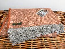 Tweedmill Textiles recyclés Laine Mix orange rouille Gris Picnic Blanket Throw Rug
