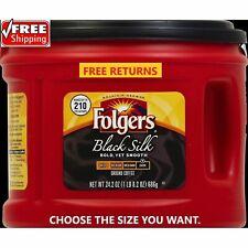 📌Folgers Black Silk Coffee (CHOOSE A SIZE) ***FRESH*** FREE SHIPPING & RETURNS