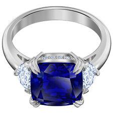 ATTRACT COCKTAIL RING BLUE RHODIUM SIZE 5-50  2019 SWAROVSKI JEWELRY 5515711
