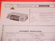 1968 TEN AM RADIO SERVICE MANUAL AT-96-1 2 3 4 618VW 618 CHEVROLET FORD CHRYSLER