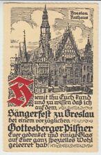 Ansichtskarte Schlesien  Breslau  Sängerfest  Gottesberger Pilsner  Bier  1937