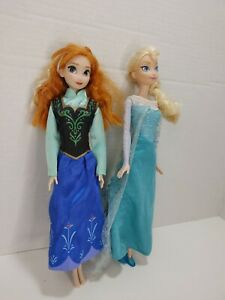 "DISNEY FROZEN ANNA AND ELSA 12"" DOLLS"