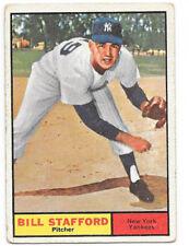 1961 Topps Baseball #213 - Bill Stafford RC VG - Yankees