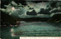 Vintage Postcard - 1907 The Banks Of The Hudson Lower Entrance New York NY #3312