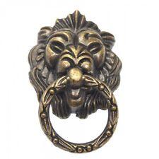 Lion Head Vintage Drawer Door Cabinet Pull Ring Knobs Handles Antique