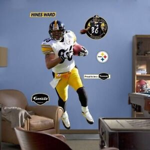 """New Hines Ward #86 Fathead Pittsburgh Steelers Large Life Size 6'5"""" x 3' NFL"""