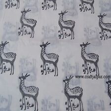 10Yard Hand Block Print Indian Animal Printed 100% Natural Cotton Running Fabric