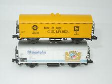 Fleischmann Spur N 2 Bierwagen - Weihenstephan und Gullfiber (526)