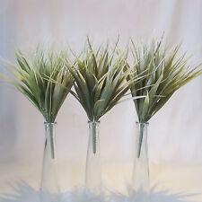 Lot de 3 artificiel 30cm vanille graminées-gris vert-deco plante