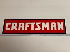 Craftsman Red White Black Bumper Sticker
