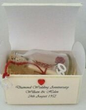 PERSONALISED 60TH DIAMOND WEDDING ANNIVERSARY MESSAGE IN A BOTTLE POEM GIFT CARD