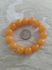 Amber Colored Bracelet Large BEADS *