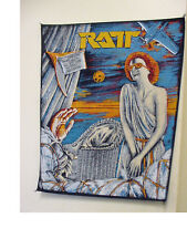 """VINTAGE RATT REACH FOR THE SKY BACK PATCH - HEAVY METAL BAND 1980'S -14""""LONG"""