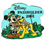 Animal Kingdom Annual Passholder 2001 Mickey& Pluto Disney Special Promo LE Pin