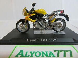 1/24 Ixo BENELLI TnT 1130 Yellow Moto Bike Motorcycle 1:24 Altaya / IXO *RARE**