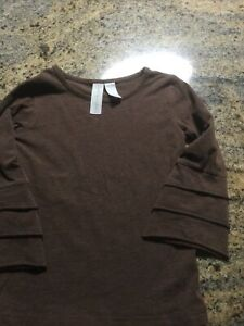 Matilda Jane Paint by Numbers Dapple Brown Top Long Sleeve Size 6  EUC