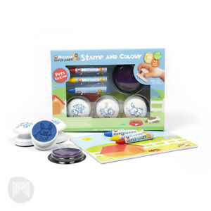Micador Early Start Stamp and Colour Activity Set - Mini Pets