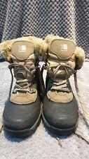 New listing Karrimor Womens Walking Hiking Boots Taupe Black Waterproof Chunky Grip UK 4 VGC