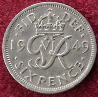 GB Sixpence 1949 (B0210)