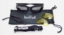 BARUFFALDI WIND TINI BLACK MOTORCYCLE EYE WEAR SHIELD HARLEY TRIUMPH GRAY YELLOW