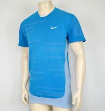 Nike Dri-Fit Running Shirt Herren Laufshirt SportT-Shirt Men LANG GRÖSSE blau L